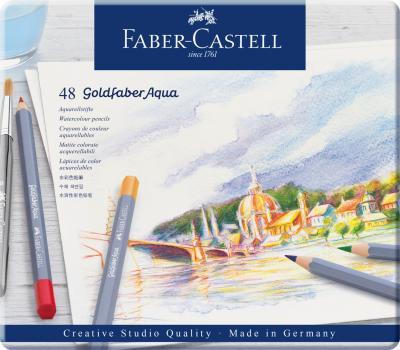 CREIOANE COLORATE AQUARELLE 48 CULORI GOLDFABER CUT. METAL Faber-Castell0