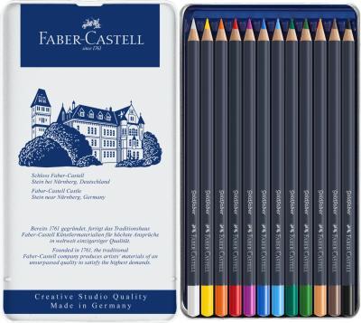Creioane Colorate 12 Cultori Goldfaber Cutie Metal Faber-Castell1