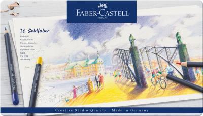 Creioane Colorate 36 Culori Goldfaber Cutie Metal Faber-Castell0