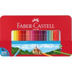 Creioane Colorate 60 Culori si Accesorii Cutie Metal Faber-Castell0