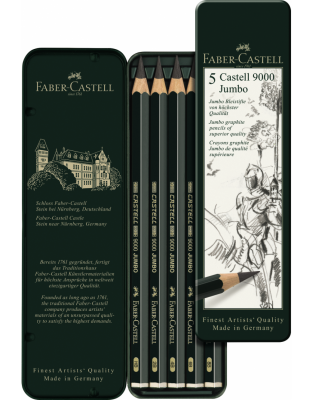 SET 5 BUC GRAFIT CASTELL 9000 JUMBO Faber-Castell0