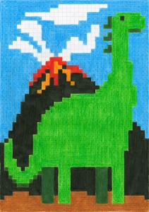 Set 12 Creioane Colorate Grip si Carte Colorat Pixel Faber-Castell2