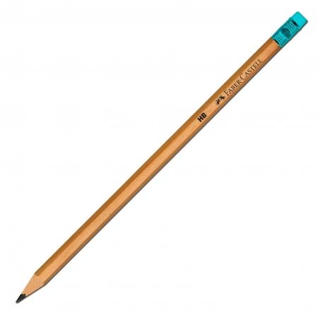 Creion Grafit HB cu Guma Natur Faber-Castell1