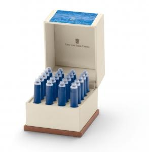 Cartuse Cerneala Mici Gulf Blue Graf von Faber Castell 20 buc/cutie0