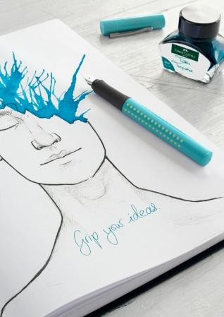 Calimara Cerneala Turquoise 30 ml Faber-Castell2