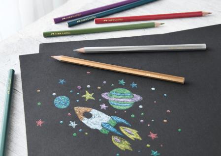 Creioane Colorate 10 Culori Metalizate Faber-Castell1