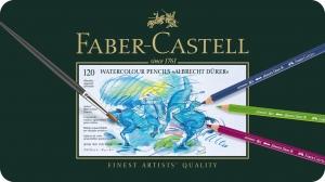 Creioane Colorate Acuarela A.Durer 120 culori, cutie metal Faber-Castell1