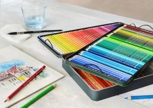 Creioane Colorate Acuarela A.Durer 120 culori, cutie metal Faber-Castell2