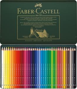 Creioane Colorate Acuarela A.Durer 36 culori, cutie metal Faber-Castell1