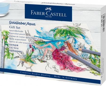 Set Cadou 12 Creioane Colorate GoldFaber Aqua+ Accesorii Faber-Castell0