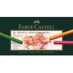 Creioane Pastel 12 Culori Polychromos Faber-Castell1