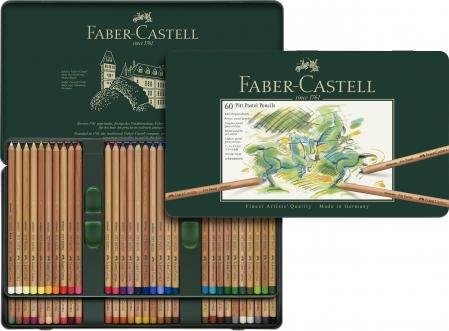 CREIOANE PASTEL PITT 60 CULORI Faber-Castell0
