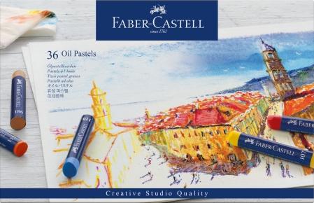 Creioane Ulei Pastel 36 culori Faber-Castell0