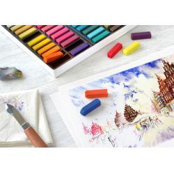 Cutie Creioane Pastel Soft Mini 48 culori Faber-Castell1