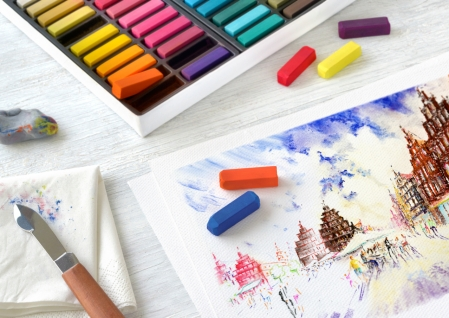Cutie Creioane Pastel Soft Mini 72 culori Faber-Castell1