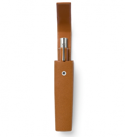 Etui 1 Instrument de Scris Piele Granulata Cognac, Pen of The Year, Graf Von Faber-Castell1
