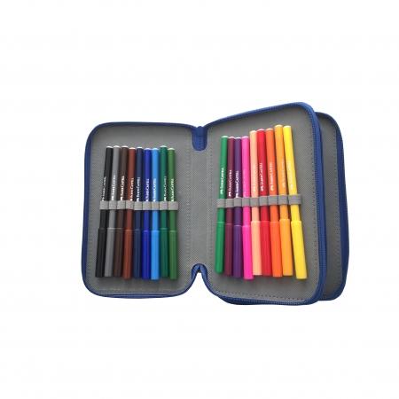 Penar 3 Fermoare Echipat 46 Piese Monocolor Faber-Castell (4 variante de culoare)