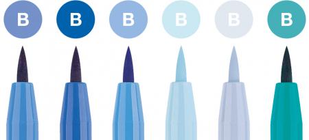 Pitt Artist Pen Set 6 Buc Albastru Faber-Castell1
