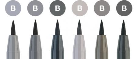 Pitt Artist Pen Set 6 buc, tonuri de gri Faber-Castell1