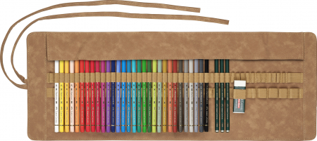 Rollup 30 Creioane Colorate Polychromos + 3 Creioane Faber-Castell 9000 Faber-Castell2