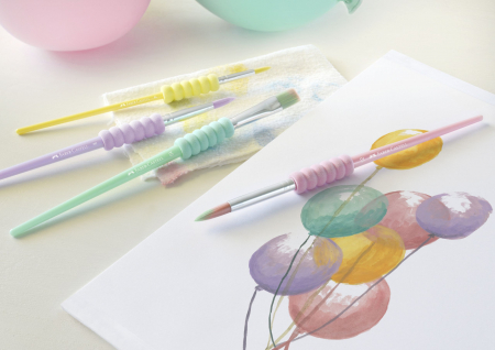Set 4 Pensule Soft Touch Pastel Faber-Castell1