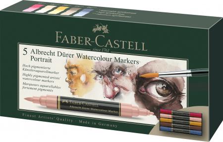 Set 5 Markere Solubile Portret A.Durer Faber-Castell0