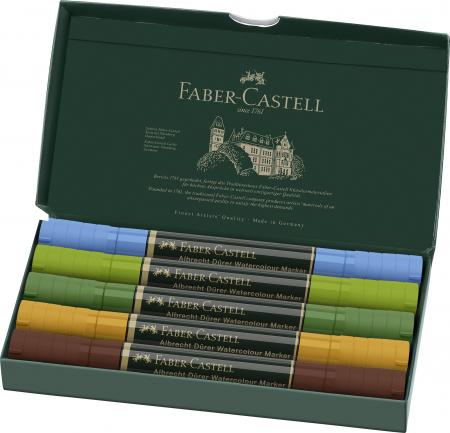 Set 5 Markere Solubile Peisaj A.Durer Faber-Castell1