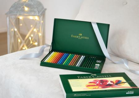 Set Cadou 20 Creioane Collorate Polychromos+Accesorii Faber-Castell2