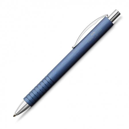 Set Cadou Stilou + Pix Essentio Aluminium Blue Faber-Castell2