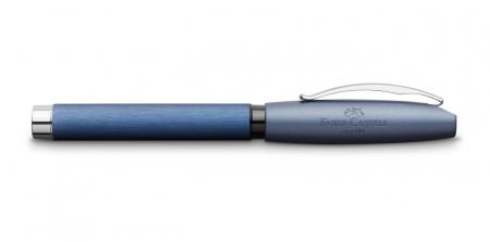Set Cadou Stilou + Pix Essentio Aluminium Blue Faber-Castell3