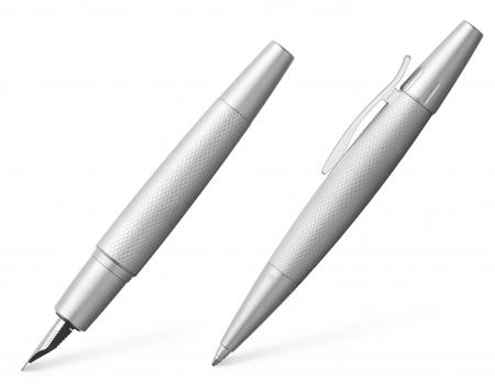 Set Stilou + Pix E-motion Pure Silver in Cutie Design Faber-Castell0
