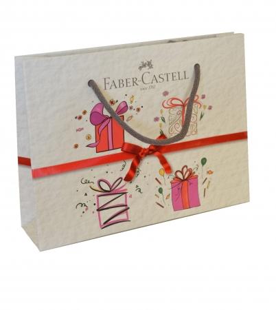 Set Stilou + Pix Grip 2011 Albastru + Convertor + Calimara in Cutie Metalica Faber-Castell5