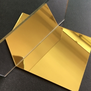 Plexiglas Oglinda Auriu1