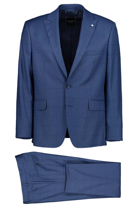 Costum elegant carouri LAVARD albastru [0]