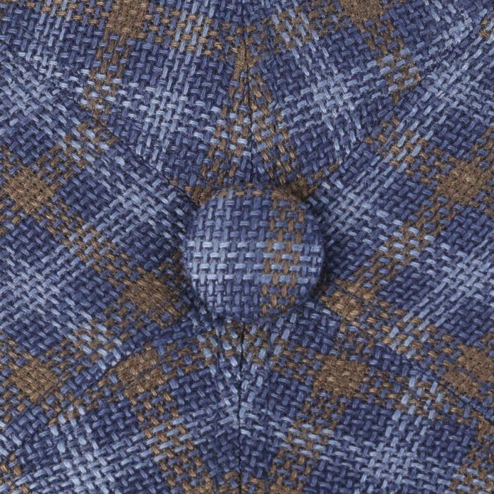 Sapca in barbati STETSON Ricoma 6-Panel carouri albastre [4]