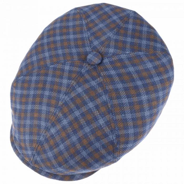 Sapca in barbati STETSON Ricoma 6-Panel carouri albastre [1]
