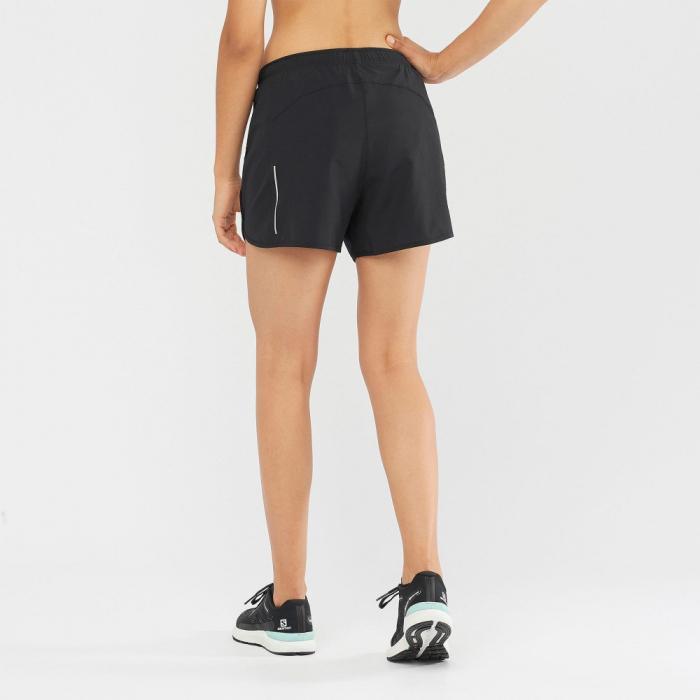 Short alergare femei SALOMON AGILE negru [2]