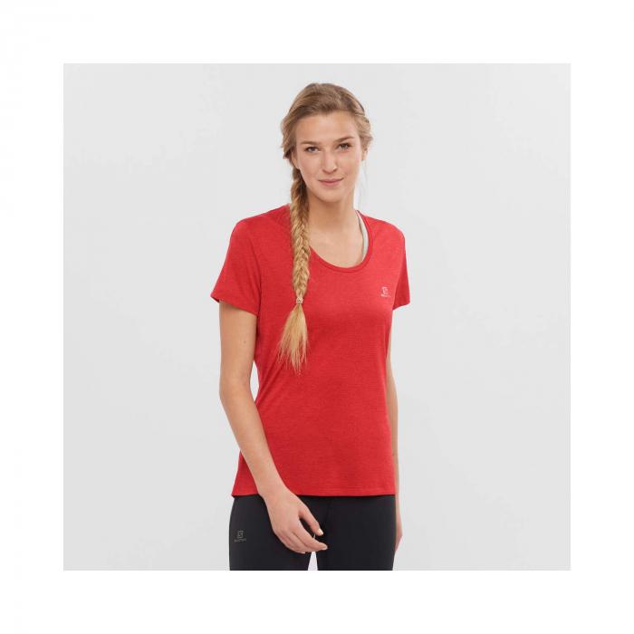 Tricou sport femei SALOMON AGILE rosu [1]