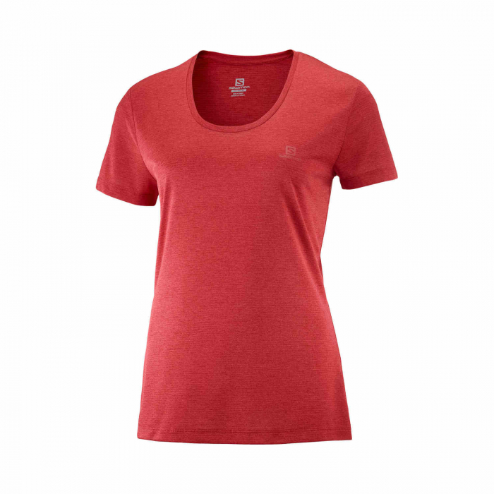 Tricou sport femei SALOMON AGILE rosu [0]