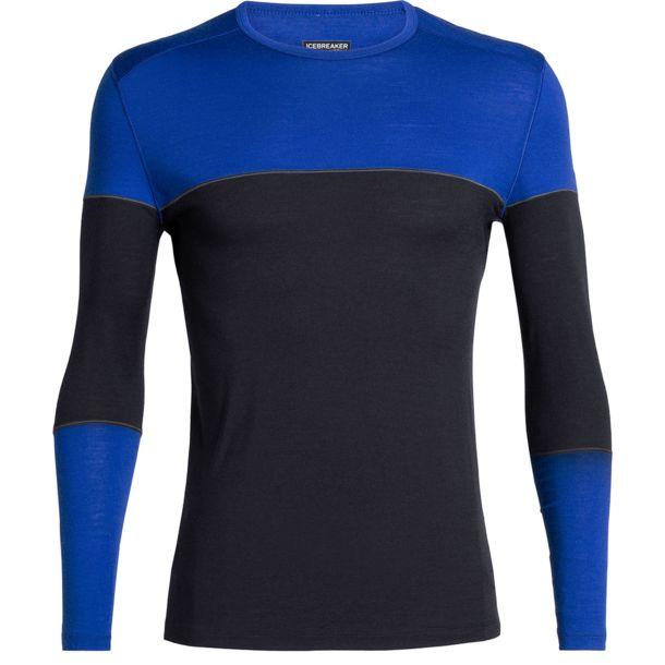 Bluza de corp barbati ICEBREAKER 200 Oasis Deluxe LS Crewe bleumarin [0]