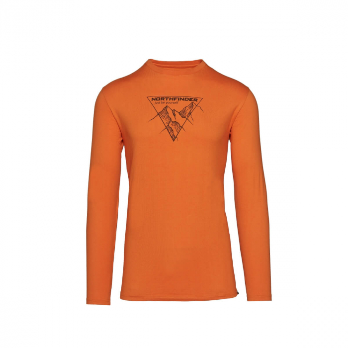 Tricou barbati bumbac NORTHFINDER Vanpy portocaliu [0]