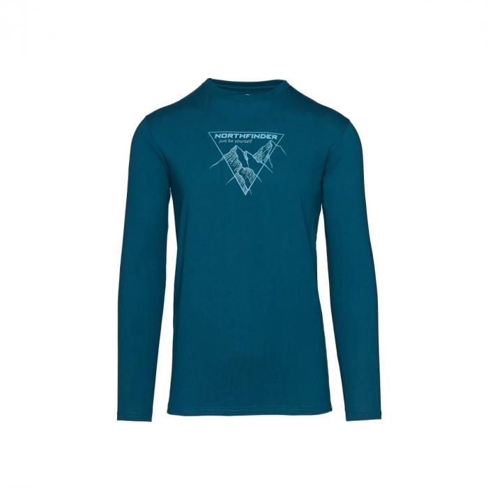 Tricou barbati bumbac NORTHFINDER Vanpy albastru [0]