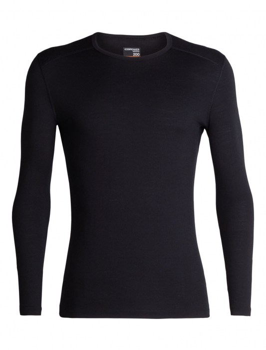 Bluza de corp barbati ICEBREAKER 200 Oasis LS Crewe neagra [0]