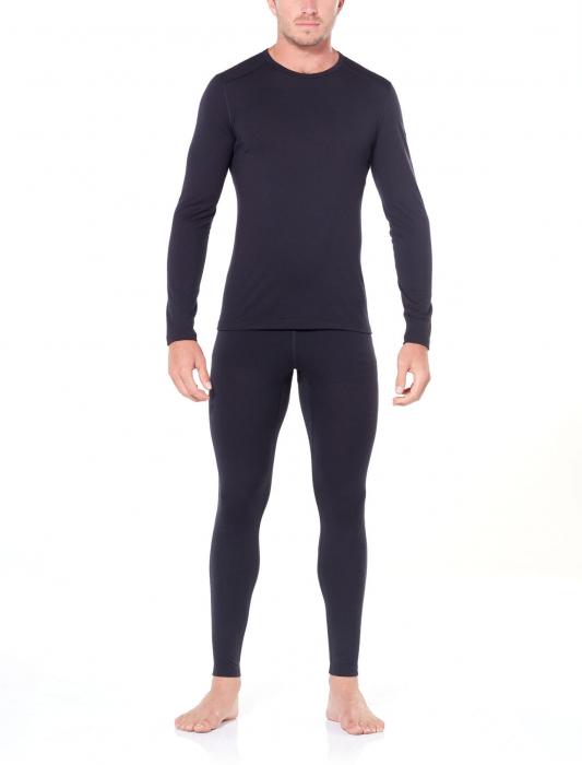 Bluza de corp barbati ICEBREAKER 200 Oasis LS Crewe neagra [3]