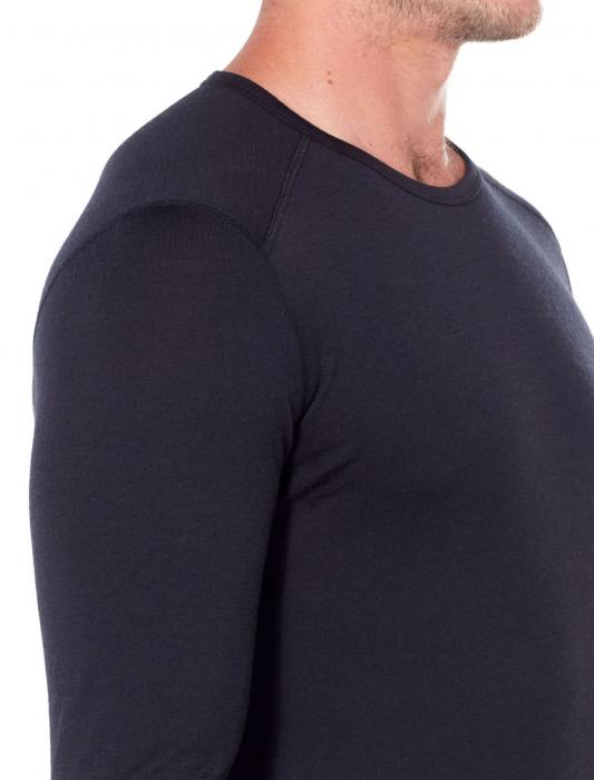 Bluza de corp barbati ICEBREAKER 200 Oasis LS Crewe neagra [4]