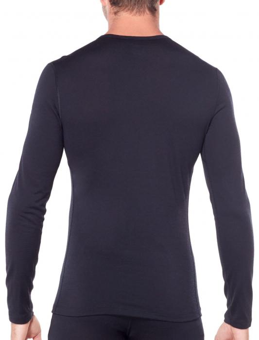 Bluza de corp barbati ICEBREAKER 200 Oasis LS Crewe neagra [2]