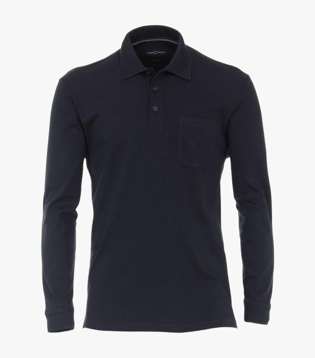 Bluza polo maneca lunga barbati CASA MODA albastra [0]
