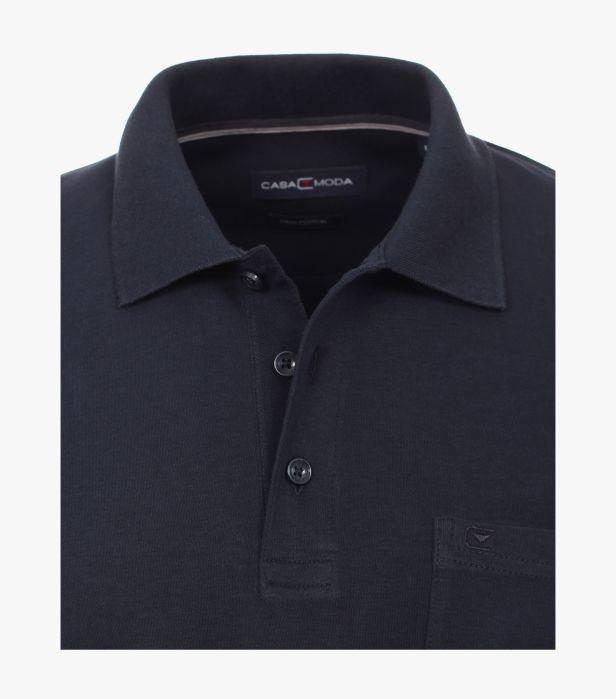 Bluza polo maneca lunga barbati CASA MODA albastra [2]