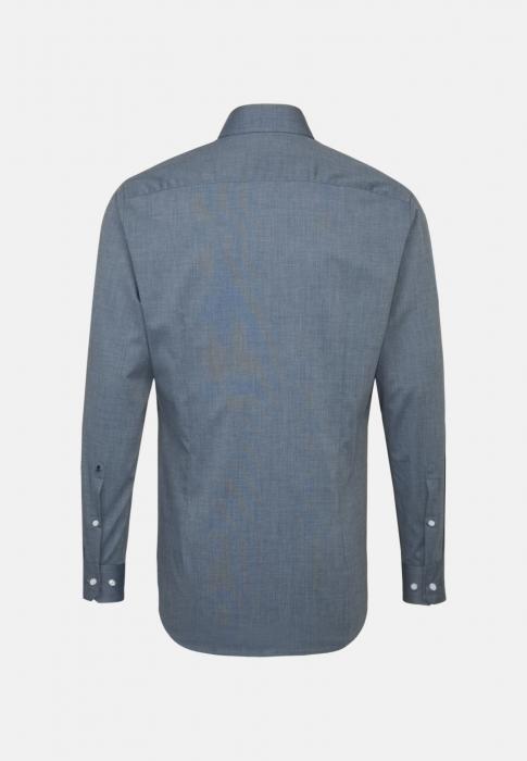 Cămașă business bărbați fil-a-fil Seidensticker Slim Not Iron albastra [1]