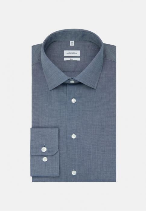 Cămașă business bărbați fil-a-fil Seidensticker Slim Not Iron albastra [5]